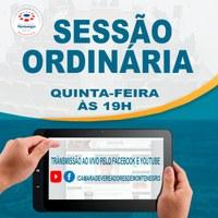 Transmissão online das sessões plenárias
