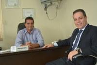 Presidente da Câmara recebe o deputado eleito Elizandro Sabino